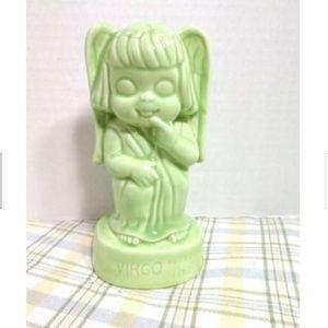 Virgo Figurine Vintage Kitsch Astrology Big Eyes